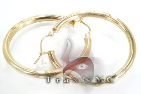 Golden Bangle Earrings 8 Metal