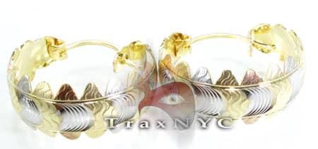 Golden Wreath Earrings 3 Metal