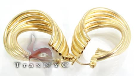 Golden Wave Earrings 4 Metal