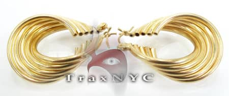 Golden Wave Earrings 4 Metal