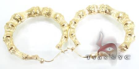 Golden Bead Earrings Metal