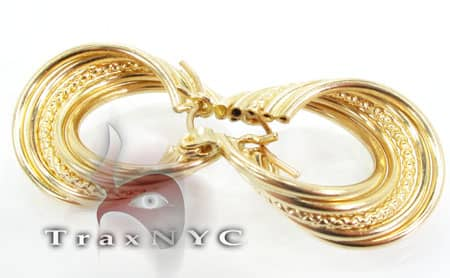 Golden Wave Earrings 2 Metal