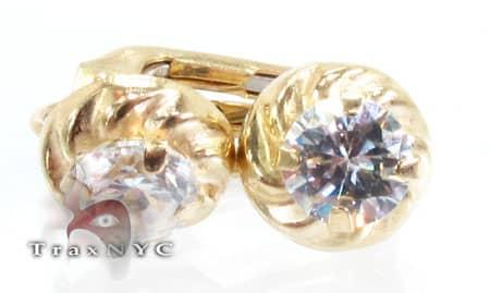 Golden Spiral Earrings Metal