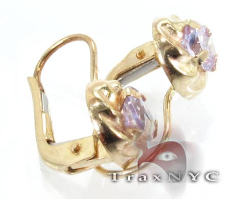 Golden Purple Studs Metal