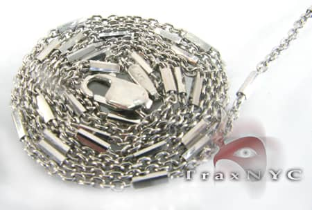 White Gold Special Link Chain 14K 18in Gold
