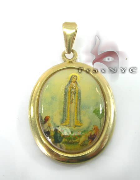 Mother Mary Locket Metal