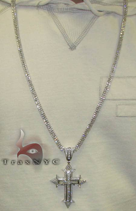 2 Row Tennis Chain 34 Inches, 93.3 Grams Hip Hop Chains