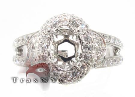 Elliptical Semi Mount Ring Engagement