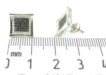 Black Diamond Aster Earrings Stone