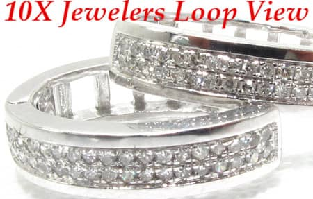 Diamond Hoop Earring Stone