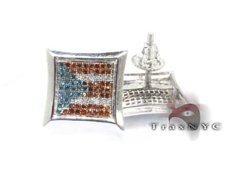 Puerto Rican Diamond Earrings Stone