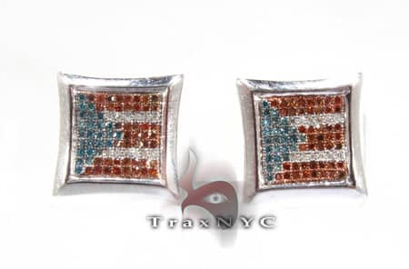 Puerto Rican Diamond Earrings Stone