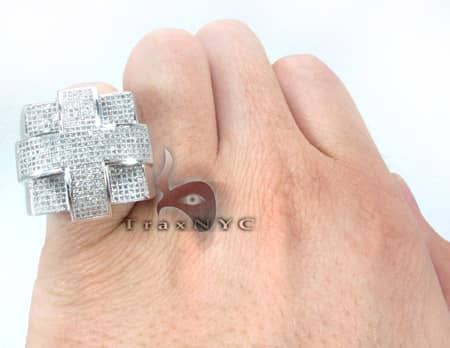 Pave Cross Ring Stone