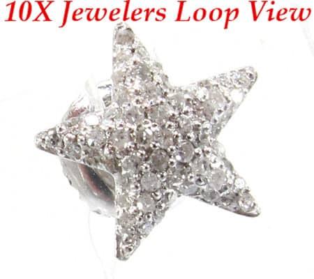 Star Studded Earrings Stone