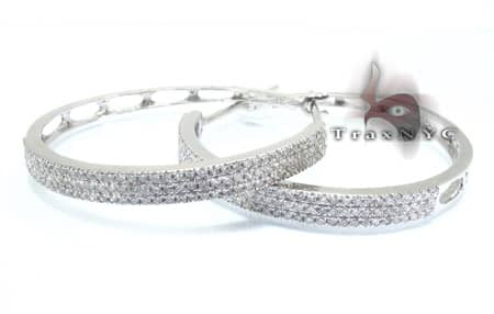 Thin Diamond Hoops Diamond Hoop Earrings
