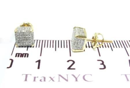 Ladies Ice Cube Diamond Earrings Stone