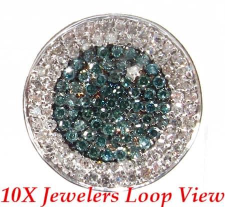 Ladies Mermaid Diamond Earrings Stone