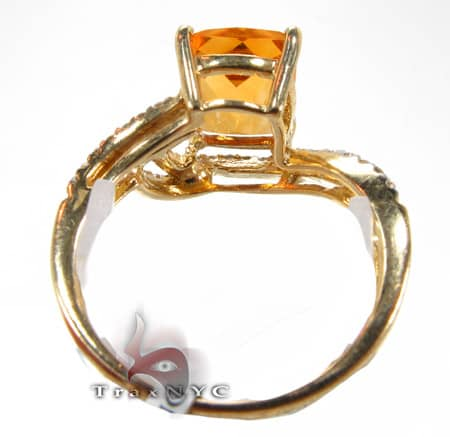 Square Citrine Ring Anniversary/Fashion