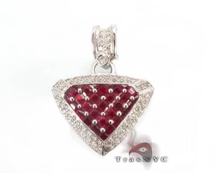 Ruby Heart Pendant 2 Stone