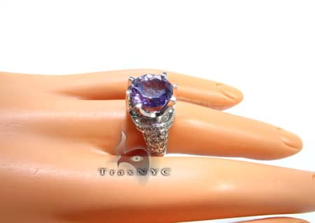 Amethyst & Diamond Ring 2 Anniversary/Fashion
