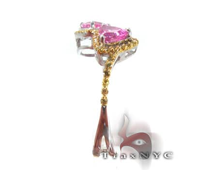 Yellow Sapphire & Pink Topaz Ring Anniversary/Fashion