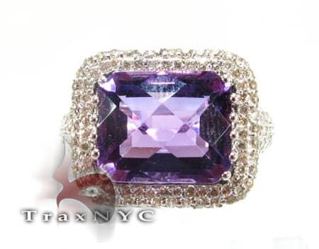 Amethyst Flash Ring Anniversary/Fashion