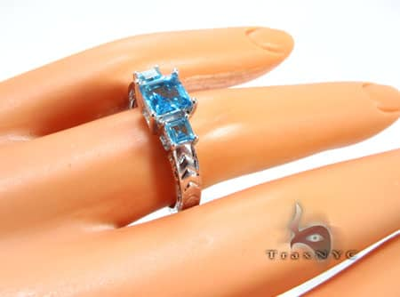 sky blue Topaz Ring Anniversary/Fashion