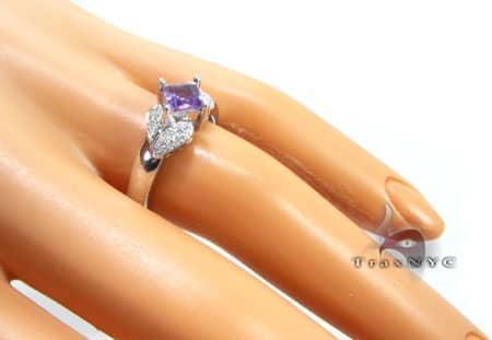 Square Amethyst Ring Anniversary/Fashion
