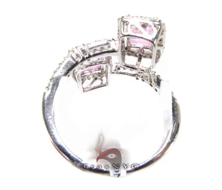 Double Pink Sapphire Ring Anniversary/Fashion