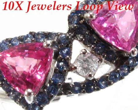 Sapphire & Amethyst Outline Ring Anniversary/Fashion