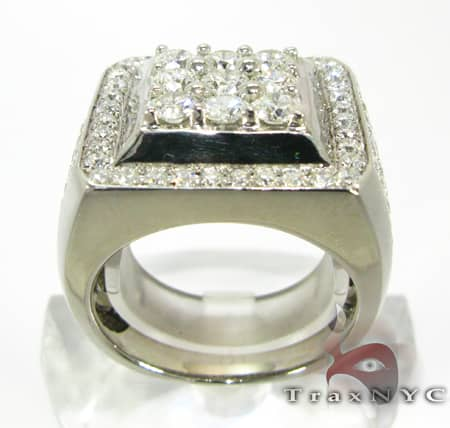 Freeze 10k White Gold Premiere Ring Stone