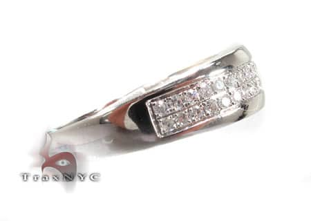 WG 2 Row Pave Band Wedding
