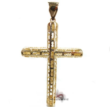 Gold Cross Pendant 3 Gold
