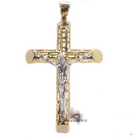 gold cross pendant 4 mens gold cross two tone gold 10k