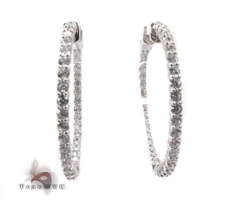 Sterling Silver Hoop Earrings 3 Metal