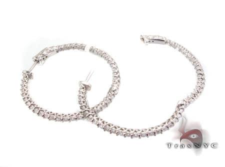 Sterling Silver Hoop Earrings 4 Metal