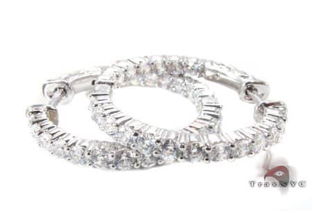 Sterling Silver Hoop Earrings 5 Metal