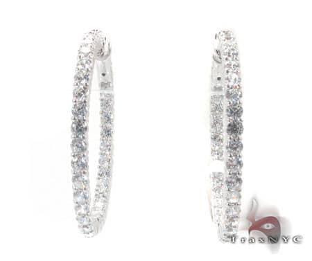 Sterling Silver Hoop Earrings 6 Metal