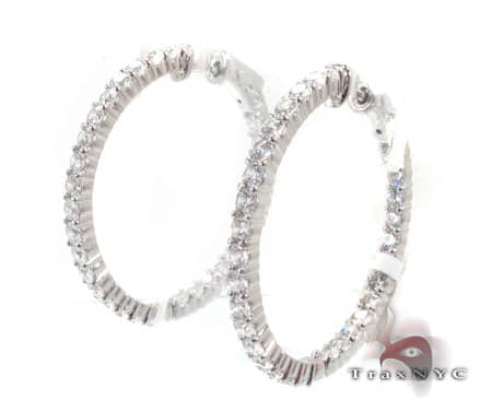 Sterling Silver Hoop Earrings 6 Metal
