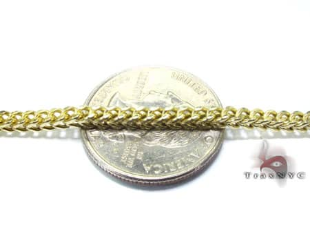 Franco Chain 30 Inches, 3mm, 13.8 Grams Gold