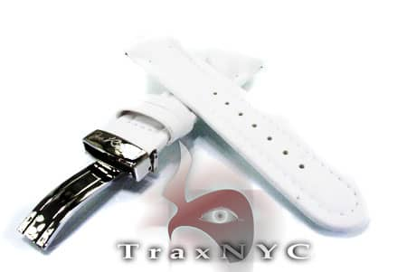 Joe Rodeo White Polyurethane Band 24mm Watch Accessories