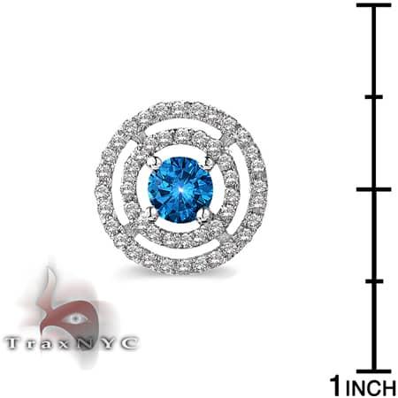 Ladies Blue Saucer Earrings 2 Style