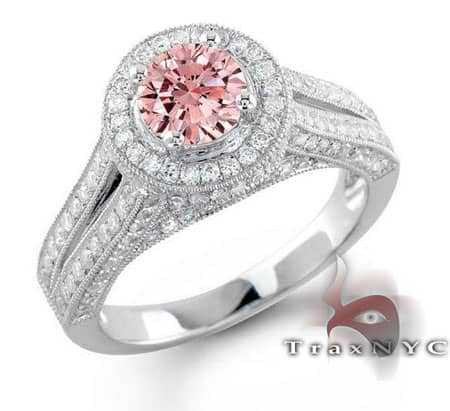 Ladies Pink Crown Ring Anniversary/Fashion