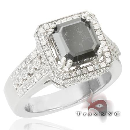 Ladies Ebony Crown Ring Anniversary/Fashion