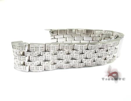 Joe Rodeo White Stainless Steel Band 22mm Fully Iced Watch Accessories