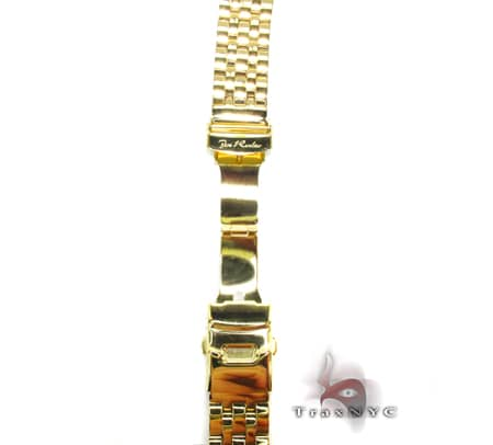 Joe Rodeo Yellow Stainless Steel Band 22mm Semi Iced 2 Watch Accessories