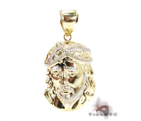 Jesus Head Pendant Gold Pendants