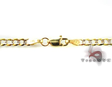 Mens Thin Cuban Bracelet Gold