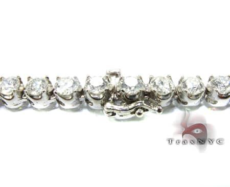 White Gold Diamond Chain 24 Inches, 5mm, 54.2 Grams Diamond
