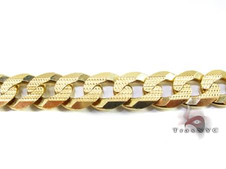 Yellow Gold Cuban Bracelet 91 Grams Gold
